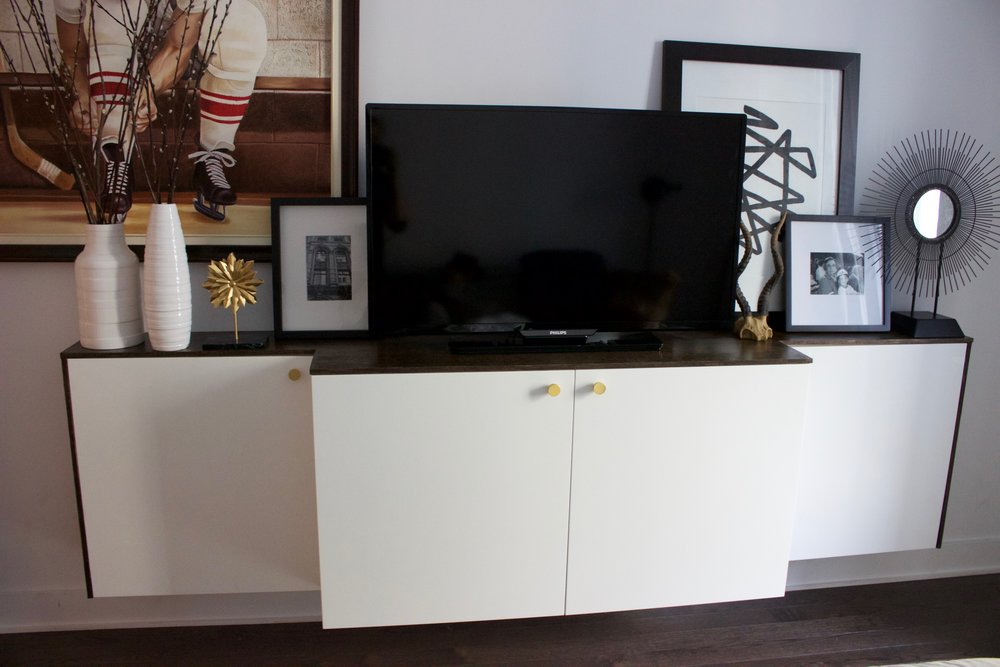 Credenza Table Ikea : Ikea hack floating credenza u kelly boyd design montreal based