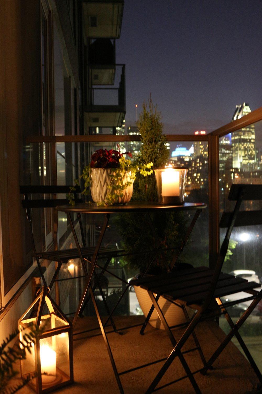 Black white condo balcony reveal kelly boyd design montreal based interior design firm for Montreal interior design firms