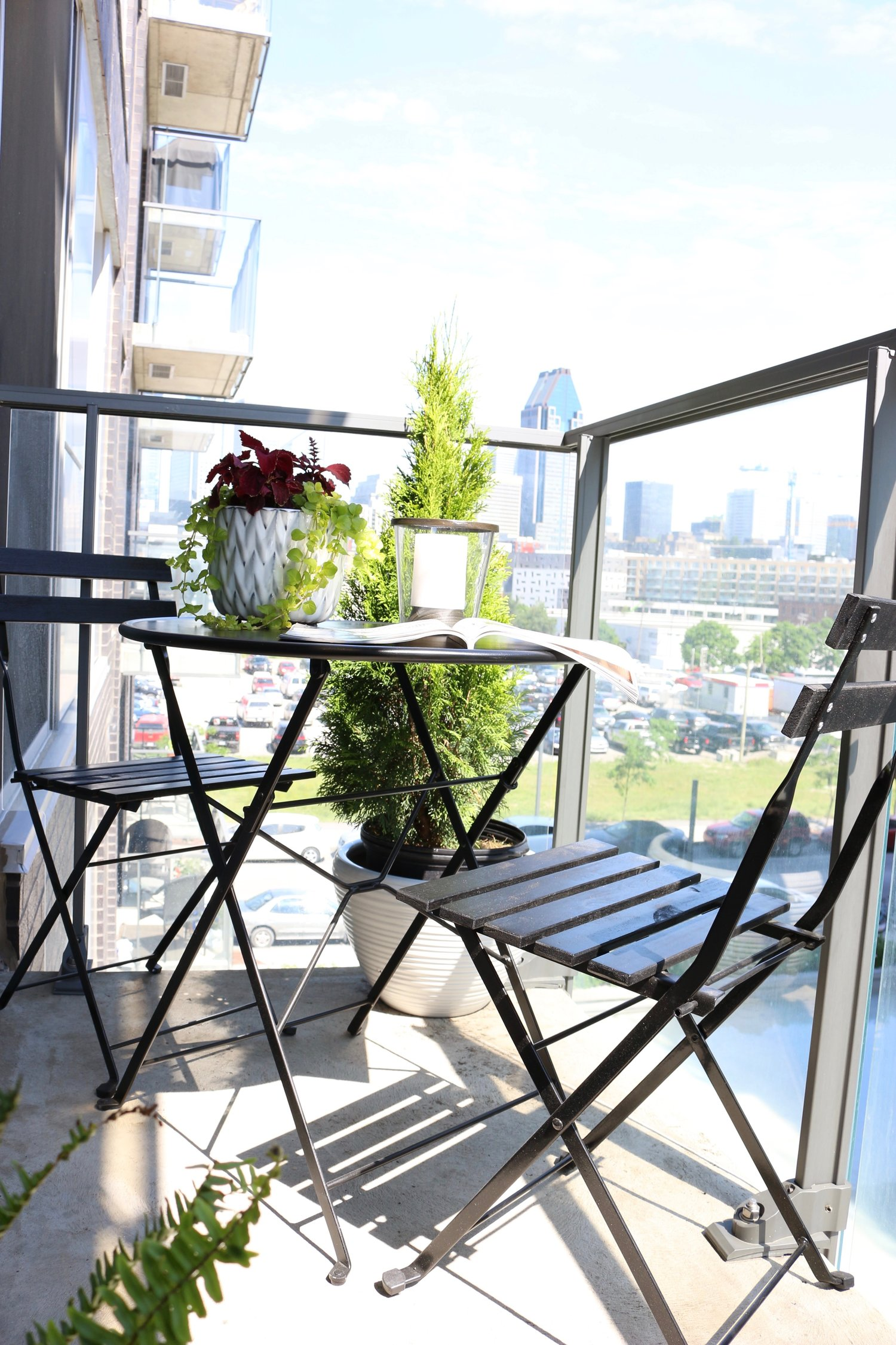 Black White Condo Balcony Reveal Kelly Boyd Design