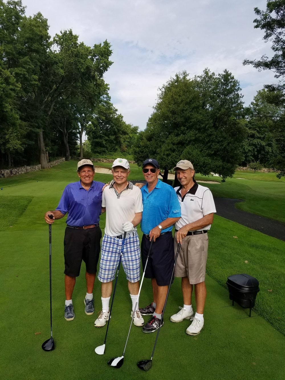 Steve Bilsky, Mark Kingdon, Alan Biren, Stuart Russo: the golfers