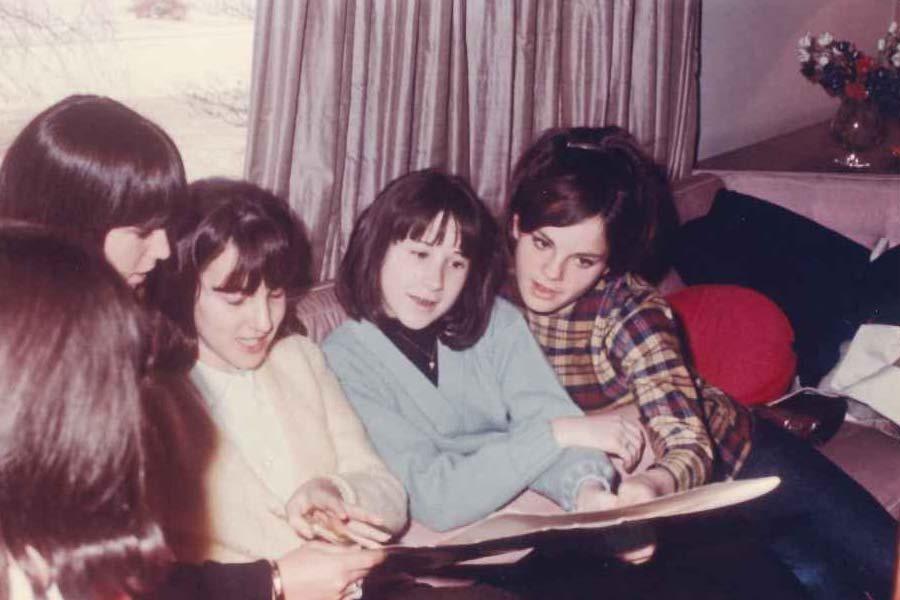 Jill Draizen, Lucy Cooperman, Betsy Rosenfield, Karen Wenig at Deedee Schure's Sweet Sixteen