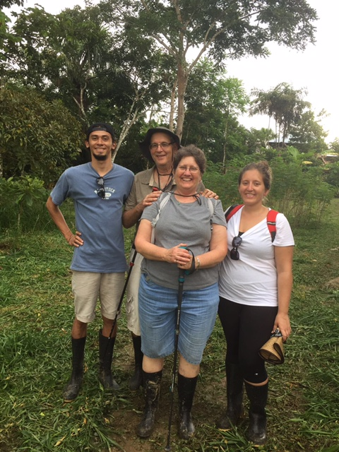 Jay Slotkin's family on a trip down the Amazon! From left: daughter Sydney's boyfriend Daniel, Jay, wife Joanne, and Sydney herself