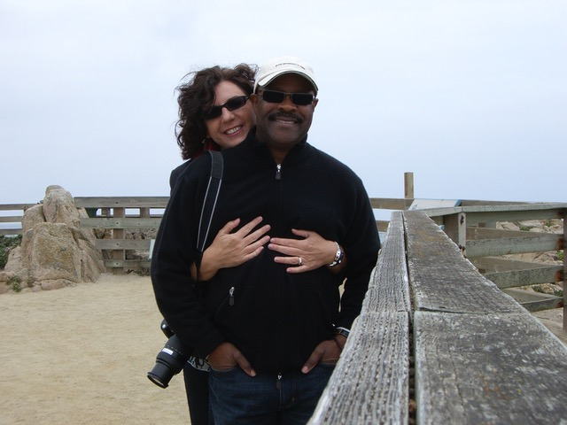 Elliot Roberts and his wife, Karen, in Carmel, CA 2009