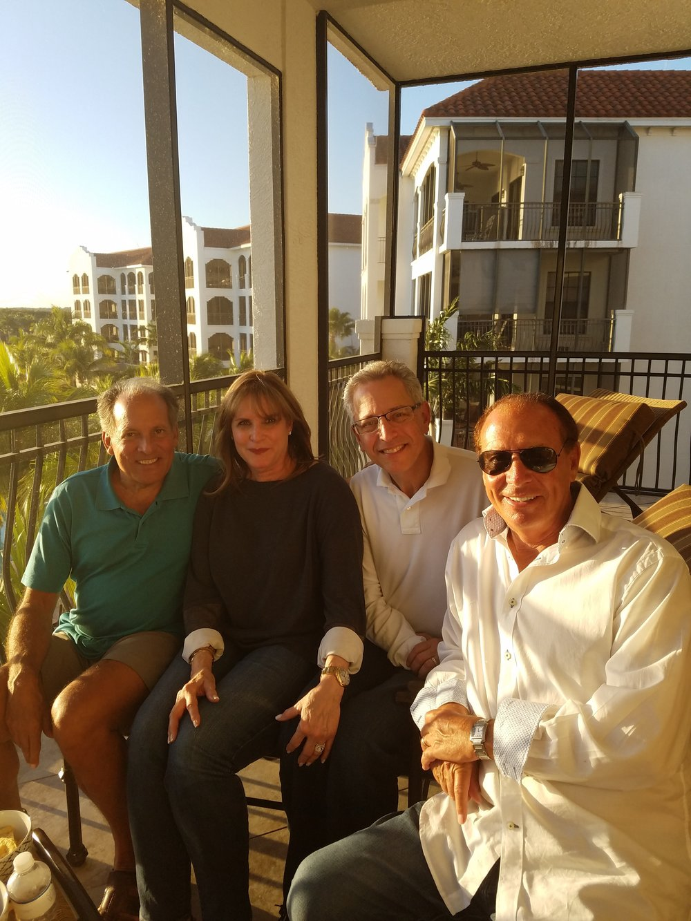 Steve Bilsky, Lisa Teitel Auerbach, Richie Auerbach, Alan Biren on a beautiful Florida day, February 2017