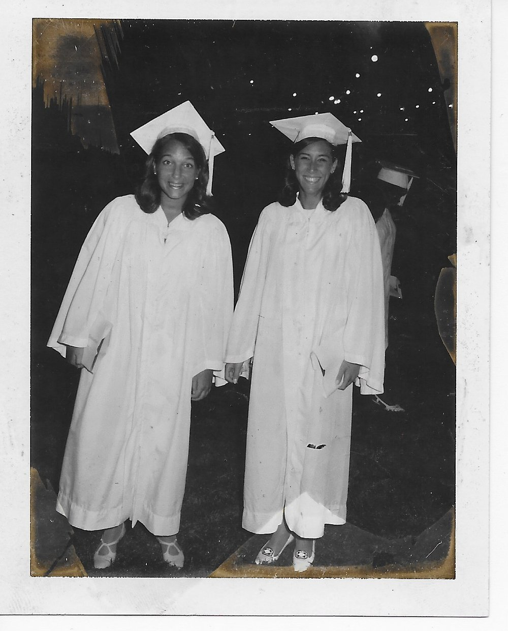 Nancie Brecher and Amy Maxin at our graduation, 1967