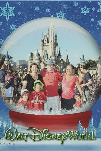 Wendi Zerman Schultz with her daughter, son in law, and 3(!) grandchildren. Isn't DisneyWorld a blast with kids? Or even without kids.