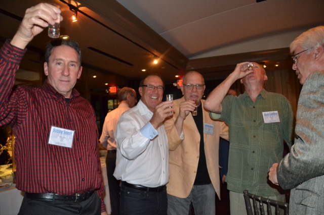 Doing tequila shots: Bobby Soloff; Alan Biren; Kenny Jacoby, Mark Gardiner; Donny Geller