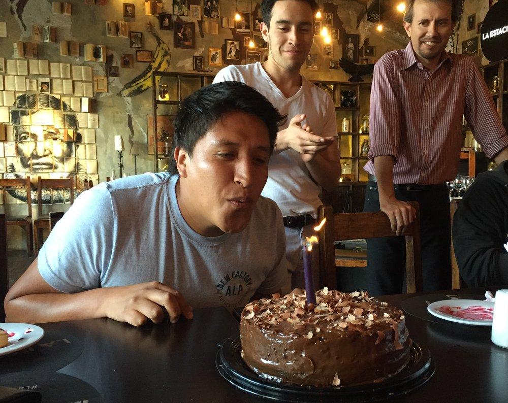 Cumpleaños de Javier Ayala