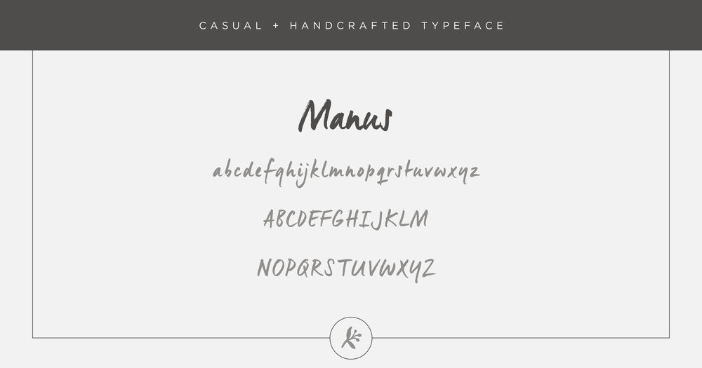 Casual handcrafted typeface