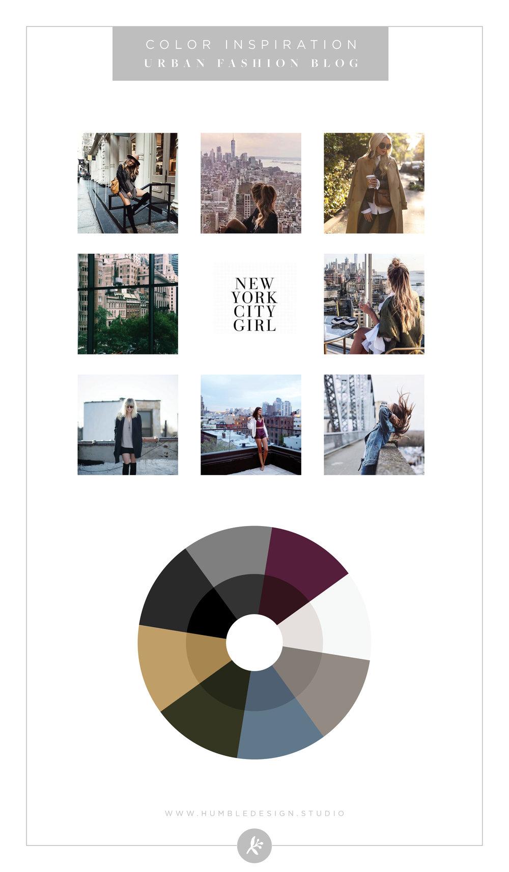 Urban fashion blog color inspiration