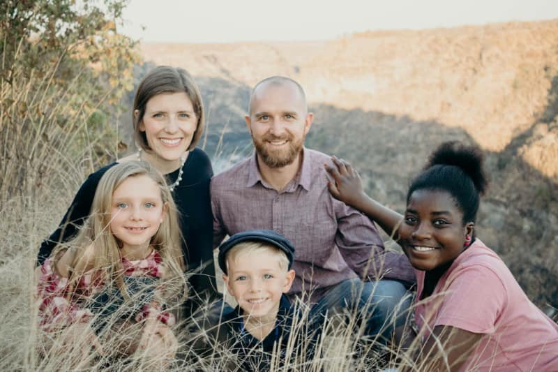 Missionaries, Jacob and Jessi Schwertfeger and their three children Sunda, Kya, and Noah.