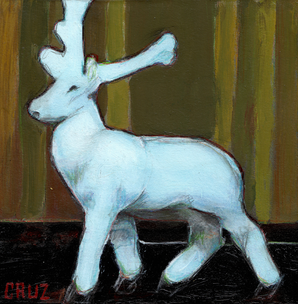 White Plastic Reindeer