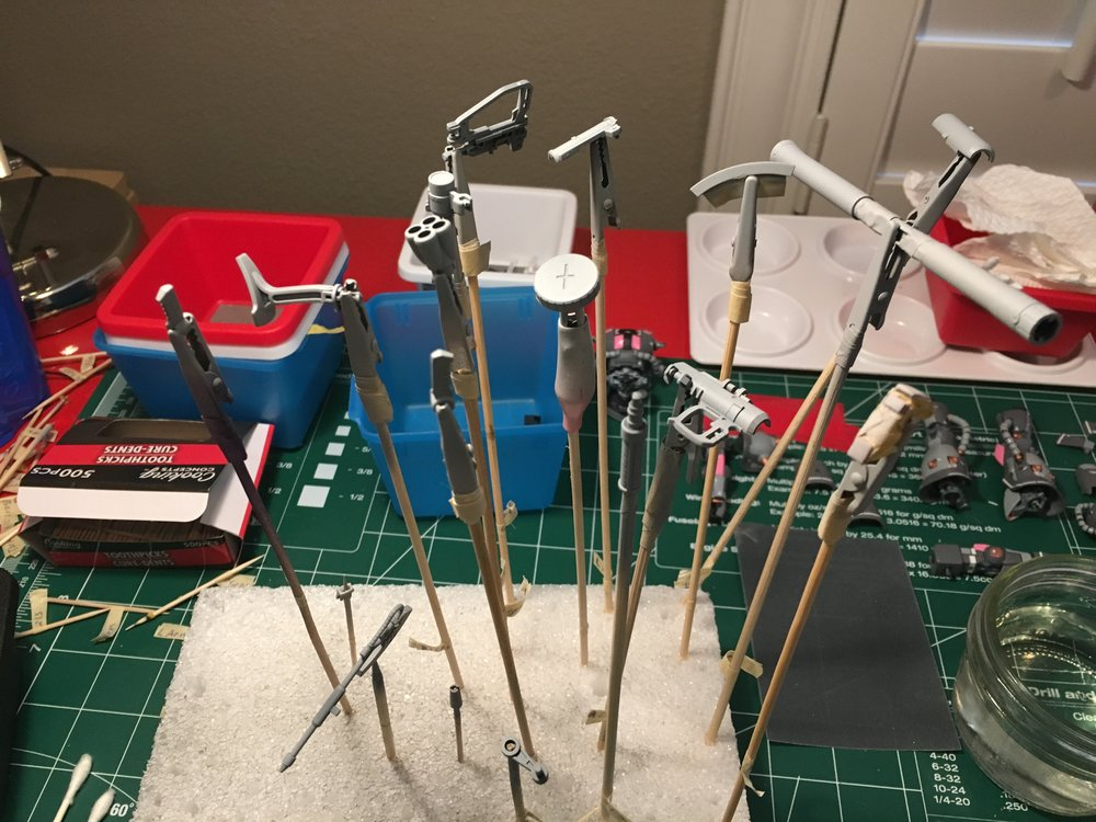 Weapons primed, ready for air brushing!