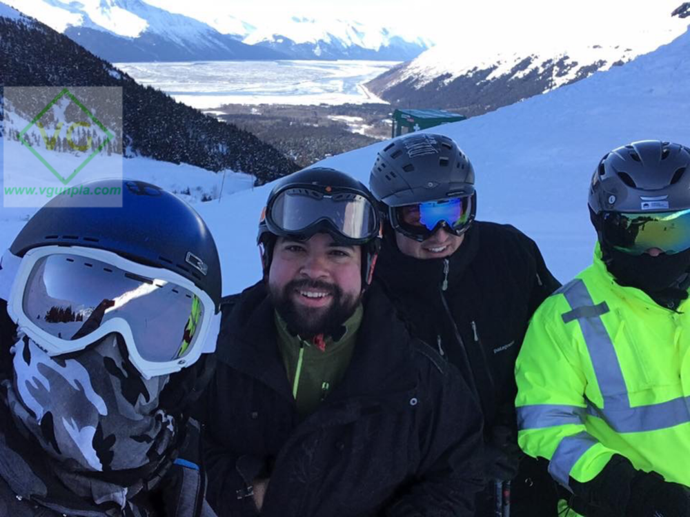Allon, me, Aaron and Russ ready to ride! The temperature was about -4F.