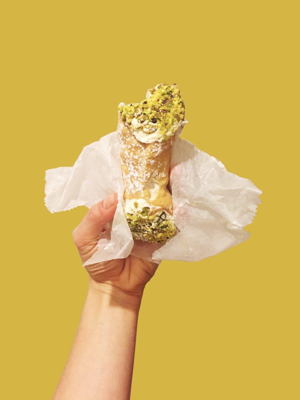 Mike's Pastry | Pistachio Cannoli