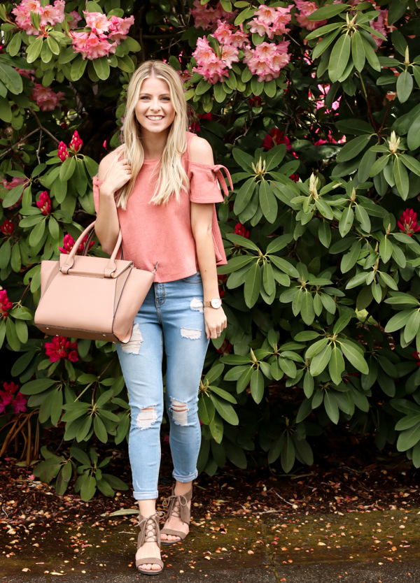 Pink Cold Shoulder Madewell Top-6.jpg