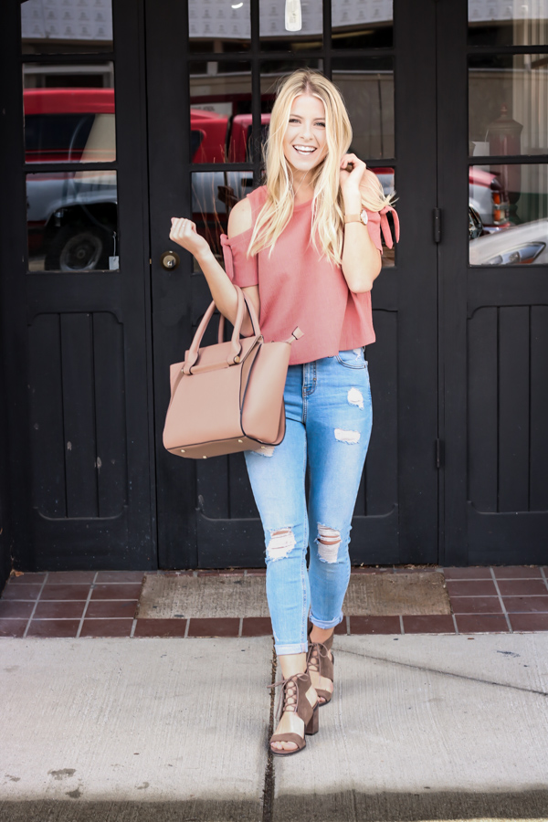 Pink Cold Shoulder Madewell Top.jpg