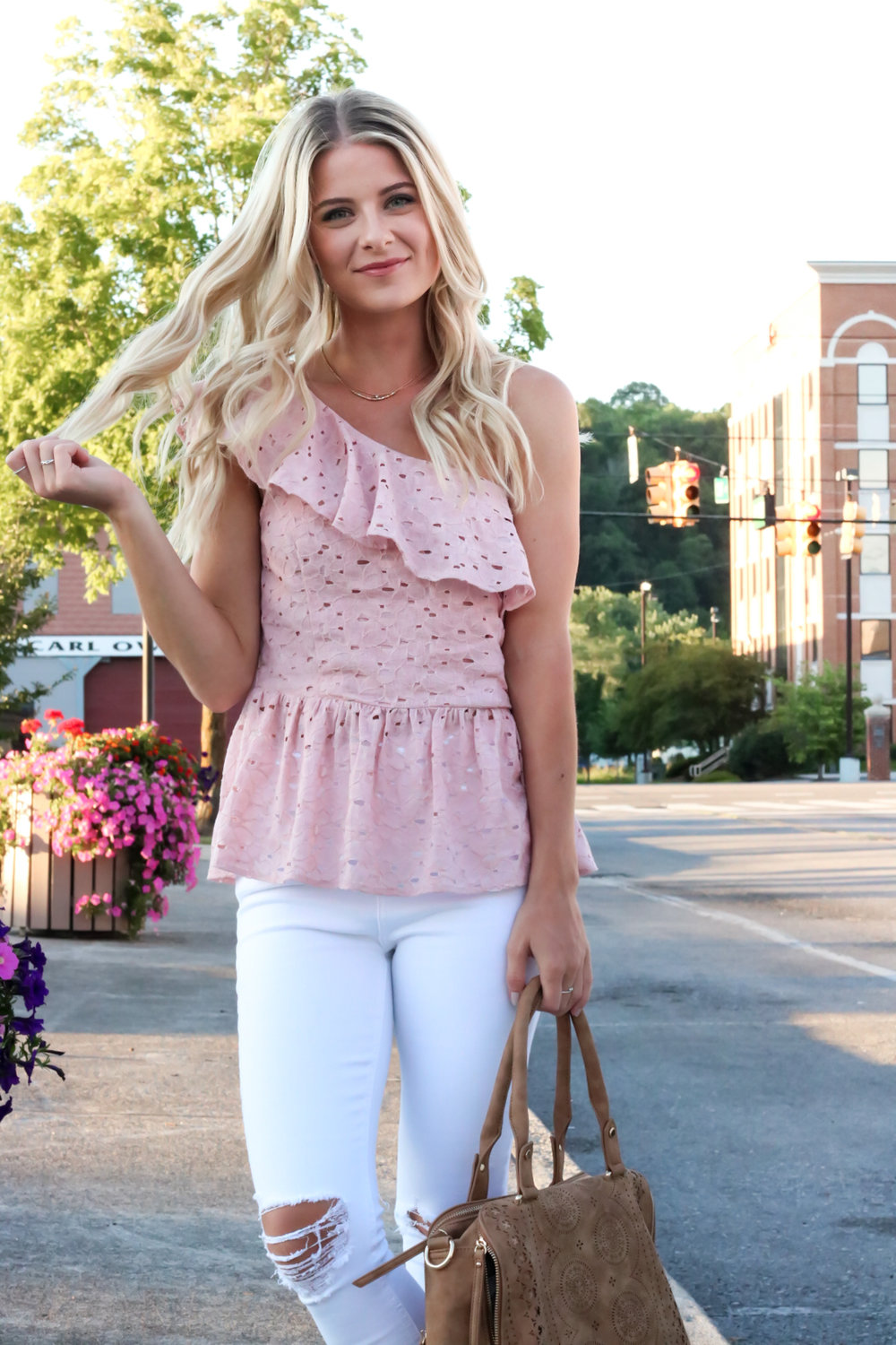 Blush Pink Eylet One Shoulder Top-10.jpg
