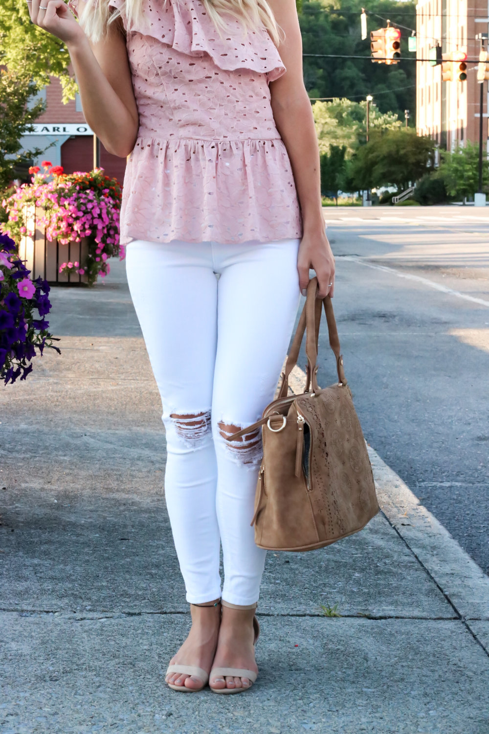 Blush Pink Eylet One Shoulder Top-11.jpg