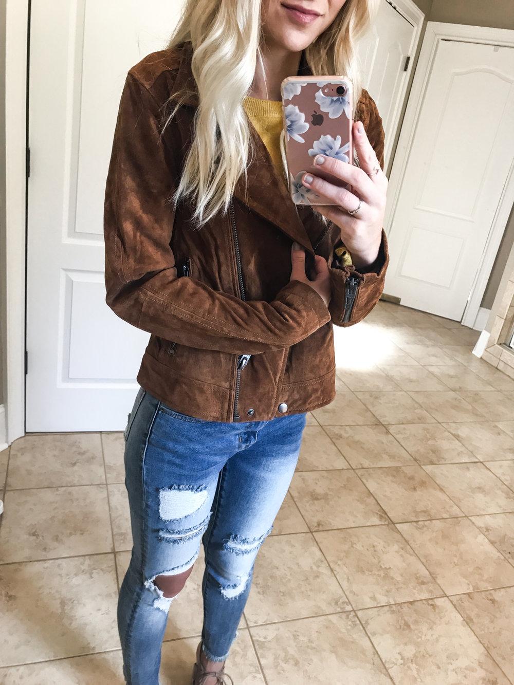 Suede Moto Jacket - Small