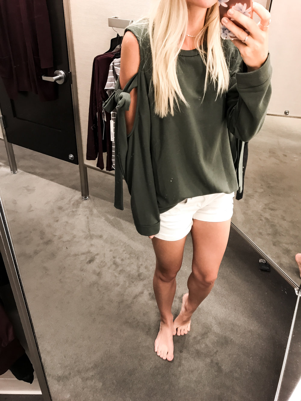 Cold Shoulder Sweater - XS