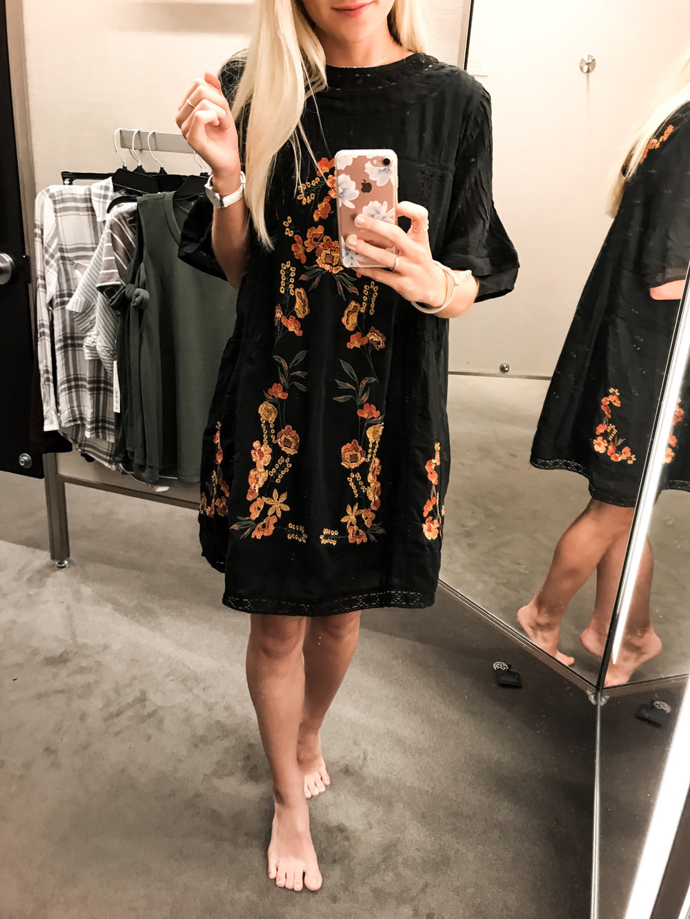 Embroidered  Dress - XS