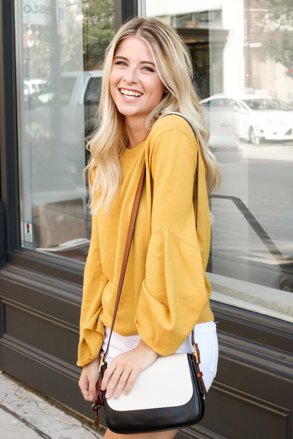 Nordstrom Leith Yellow Bell Sleeve Sweater_-3.jpg