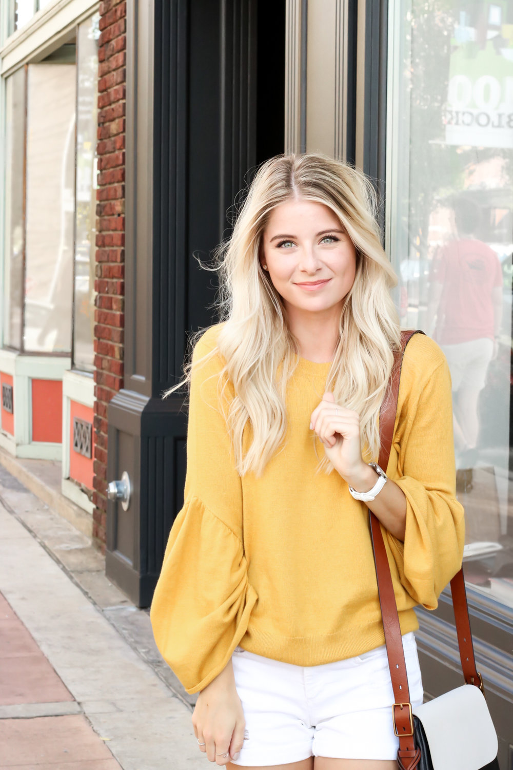 Nordstrom Leith Yellow Bell Sleeve Sweater_-10.jpg