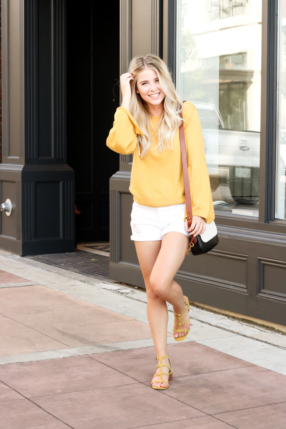 Nordstrom Leith Yellow Bell Sleeve Sweater_-16.jpg