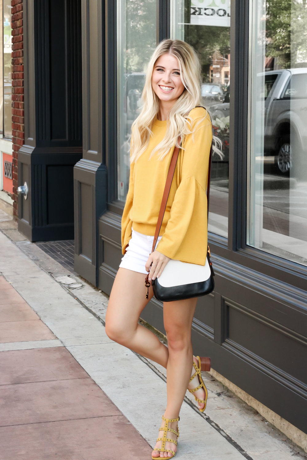 Nordstrom Leith Yellow Bell Sleeve Sweater_.jpg