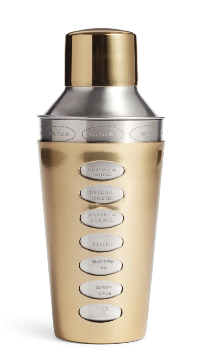 Recipe Cocktail Shaker - This is quite possibly the coolest shaker out there. I love that it includes various drink recipes on it!