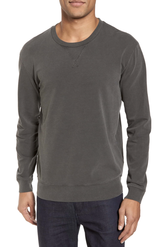 Slim Fit Crewneck Sweatshirt - I love the slim fit of this + it comes in three colors!