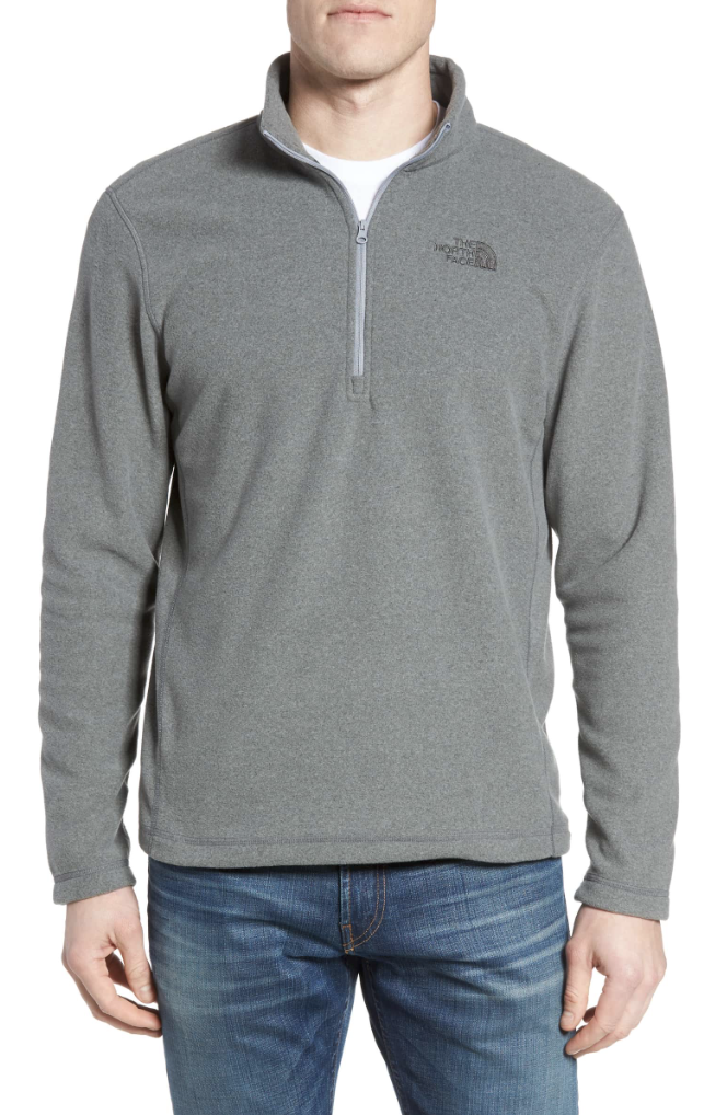 Northface Fleece Pullover - If you want to get him something that he will wear again and again, this pullover is it. Chris owns two of these and they are the first thing he reaches for in his closet!