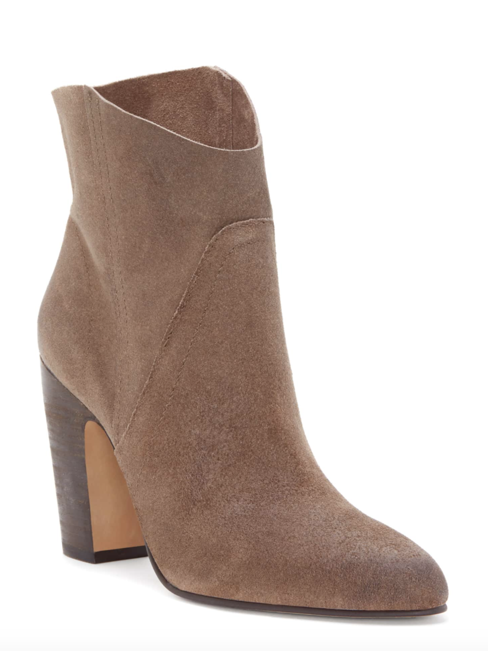 Vince Camuto Western Bootie - The style is so flattering and elongates your legs! Comes in several colors & 50% off!
