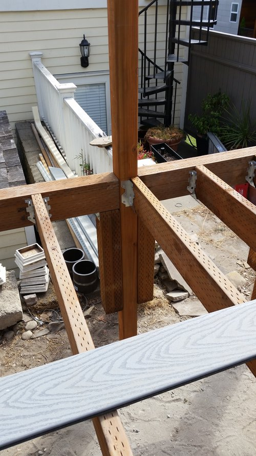 Complex Deck Substructure for Residential Home