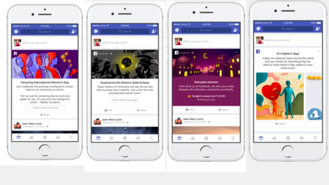 Example Facebook Moment experiences