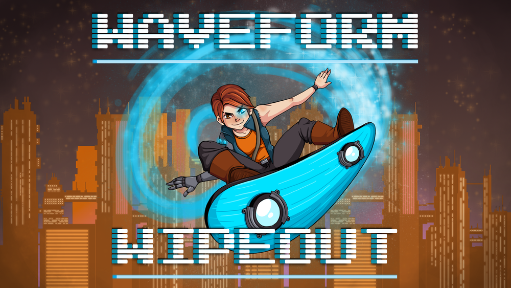 Some sweet box art for Waveform Wipeout by Nikki!