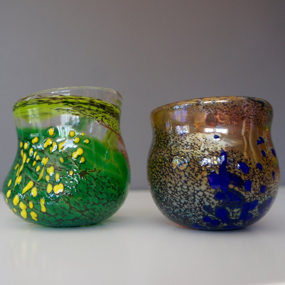 Handblown Glass Cups Retail Value: $60 Nisson Glass Art Shop more @Baron Glassworks Holiday Sale