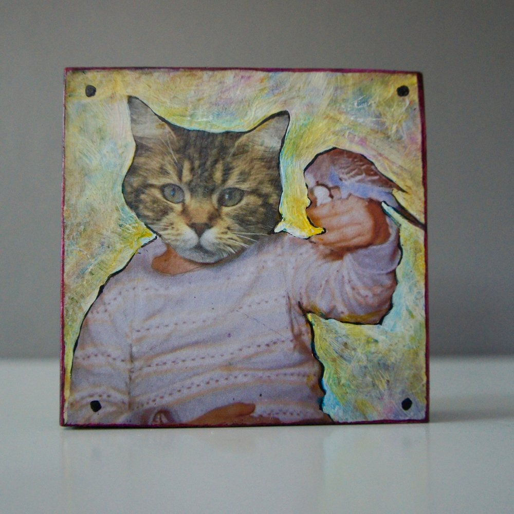 Mixed Media Collage Family Portrait  Retail Value: $40 Mike Sivak Shop more @Ann Arbor Art Center's Holiday Art Shop