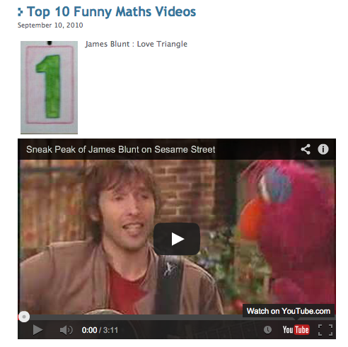 Top Ten Funniest Math Videos from Mathspiggy