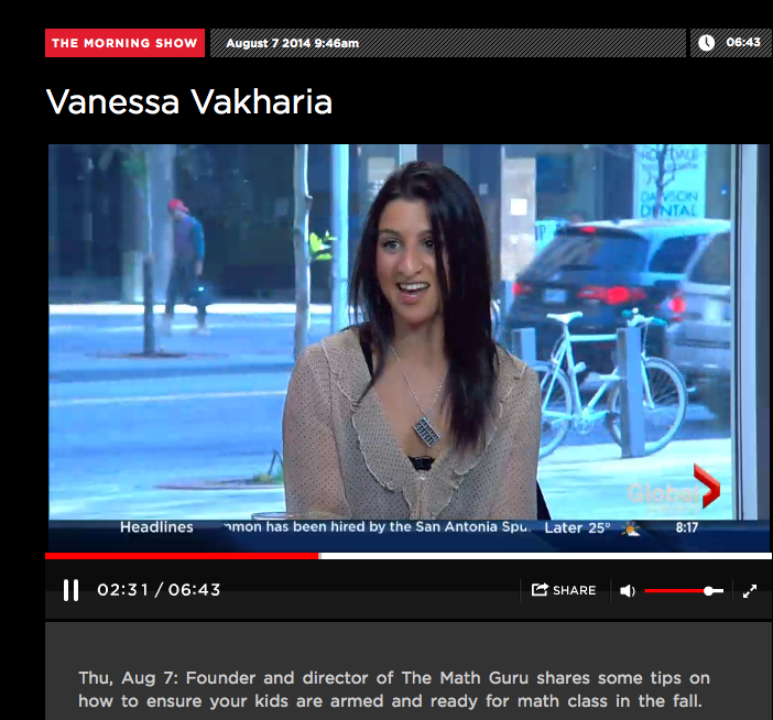 Vanessa Vakharia, owner/founder of The Math Guru Math & Science Tutoring Studio