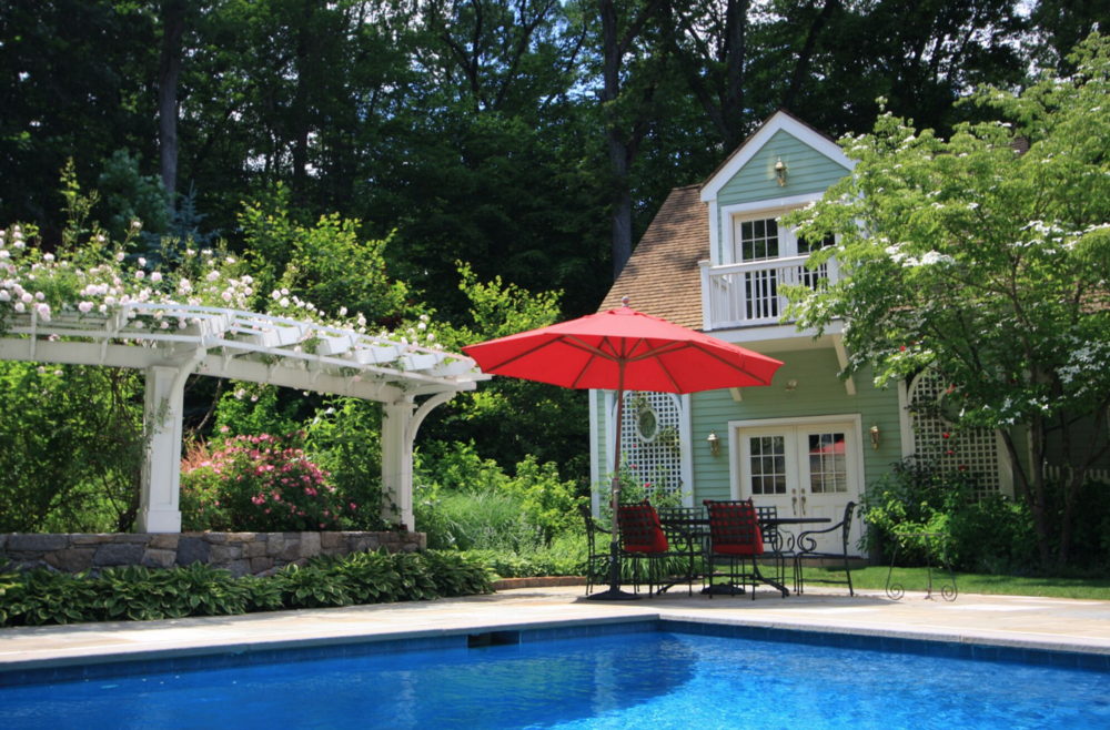 swimming pool, gazebo, pergola in Greenwich, CT