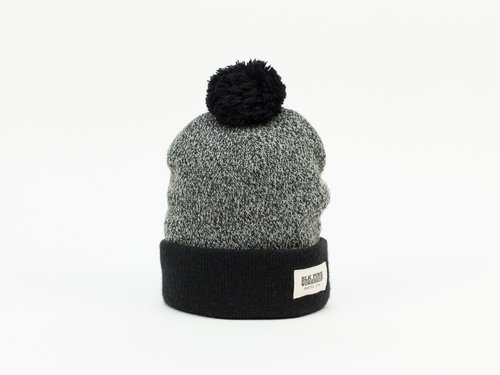 Tight Knit Contrast Pom Pom Beanie - Black b19ea1736d