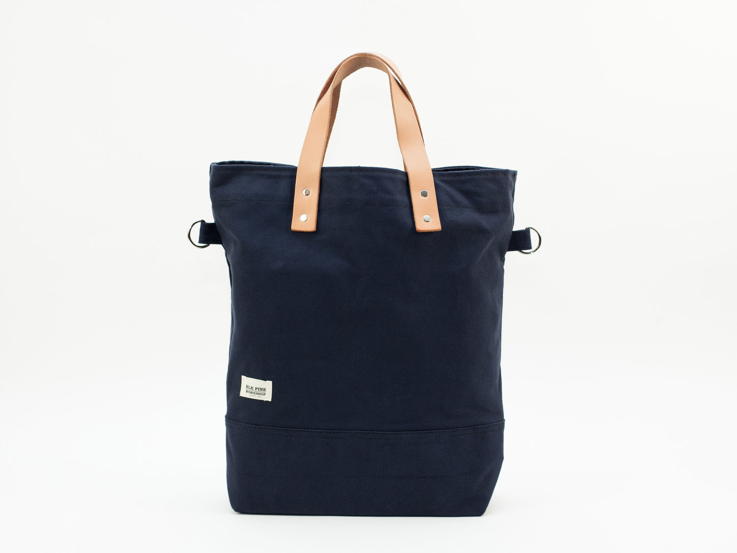 100d8563b8 Classic Leather Canvas Tall Tote - Navy — BLK PINE WORKSHOP