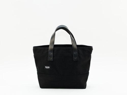 32538b06fa Classic Leather Canvas Small Tote - Black