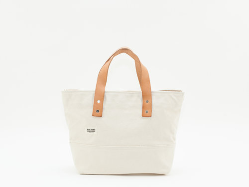96937975fb Classic Leather Canvas Small Tote - Natural