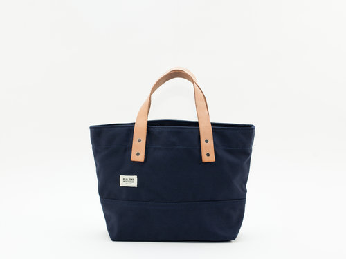 334c814134 Classic Leather Canvas Small Tote - Navy