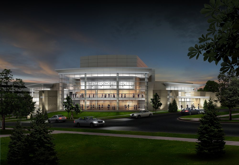North Central College - Exterior Rendering Night.jpg