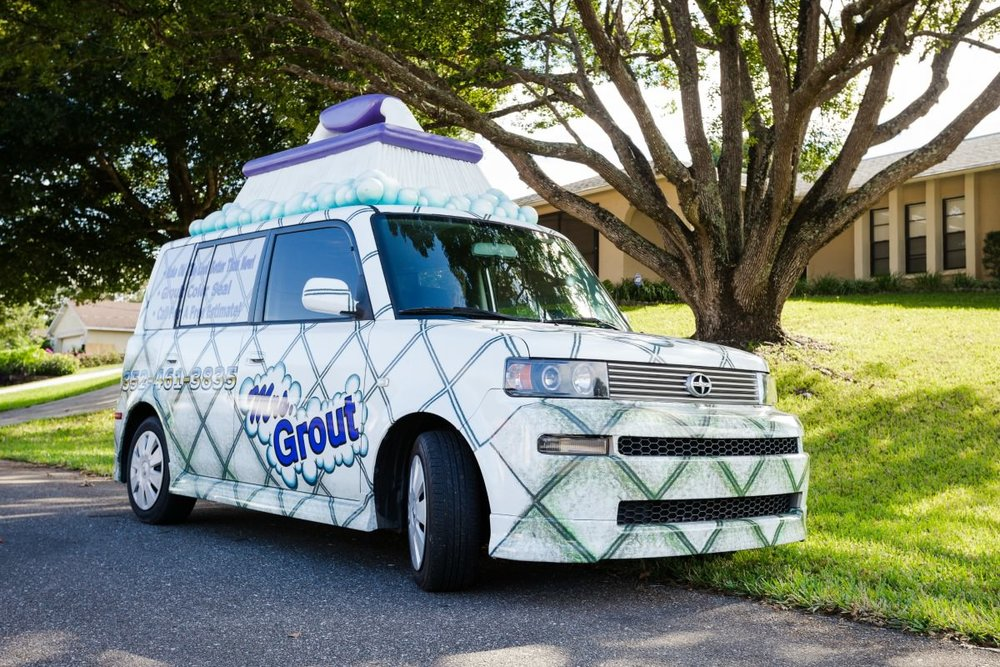 Grout Mobile to the Rescue (See it?) | MrsGrout.com