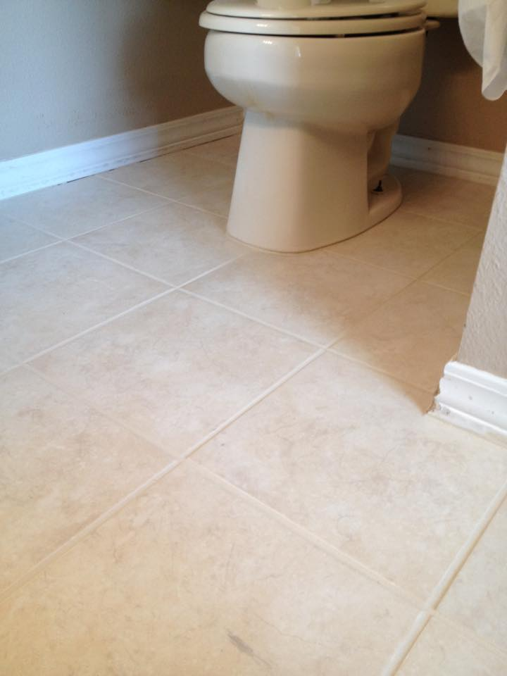 After Grout Cleaning and Painting from Mrs. Grout